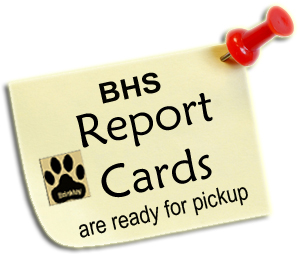 BHS Report Cards Are Ready For Pickup